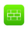 concrete block wall icon digital green vector image
