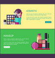 cosmetic and makeup online shop web page templates vector image vector image