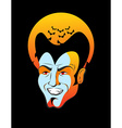 Count Dracula and moon Vampire bats head of vector image