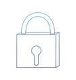 degraded outline closed padlock object security vector image