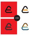 e- company symbol vector image