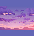 evening cloudy sky background vector image