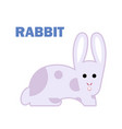 farm animal rabbit isolated vector image vector image