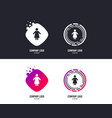 female sign icon woman human symbol vector image