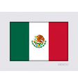 Flag of Mexico Aspect Ratio 2 to 3 vector image vector image