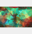 flat abstract triangle background vector image vector image