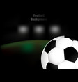 football soccer background with ball vector image