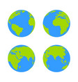 globe icon earth symbol vector image vector image