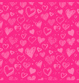 hand drawn valentine grunge hearts pattern vector image