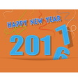 happy new year card with ribbon vector image vector image