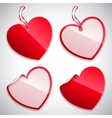 Heart Shaped Tags vector image vector image