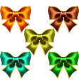 Holiday bows with gold edging vector image vector image