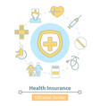 icon health insurance healthcare and vector image vector image