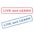 live and learn textile stamps vector image vector image