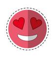love emoticon style cut line vector image vector image