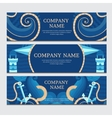 marine set banners vector image vector image