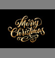 merry christmas lettering text vector image vector image