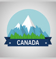 mountains with snow canadian scene vector image vector image