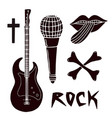 music silhouettes clip art musical collection vector image vector image