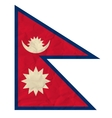 Nepal paper flag vector image