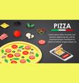 order italian pizza banner horizontal isometric vector image