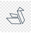origami concept linear icon isolated on vector image