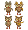 Owls vector image vector image
