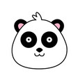 panda bear cute funny cartoon happy cozy relaxed vector image