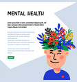 psychology mental health man character with vector image vector image
