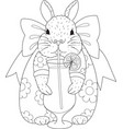 rabbit drinking vector image