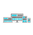 responsive pc flat design modern seo vector image