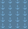 Retro fold blue anchors on waves vector image