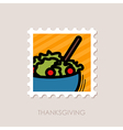 Salad bowl stamp Harvest Thanksgiving vector image