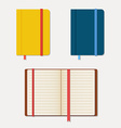 Set of notebooks in flat style with shadows vector image vector image