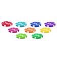 Set of poker chips vector image
