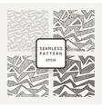 Set of seamless monochromatic patterns with vector image vector image