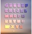 Transparent three-dimensional alphabet set vector image