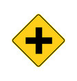 usa traffic road signa four-way intersection vector image vector image