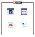 User interface pack 4 basic flat icons of