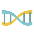 yellow blue dna icon flat style vector image vector image