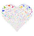 yuan fireworks heart vector image vector image