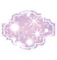 decorative christmas label bright snowflake vector image