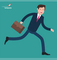 hurry runing businessman in rush vector image
