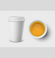 3d realistic white paper or plastic vector image vector image