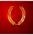 a golden metallic foil laurel wreath on t vector image vector image