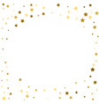 abstract round background with gold star elements vector image vector image