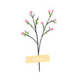 aesthetic branch with cute spring flowers
