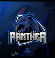 angry panther mascot logo design vector image vector image