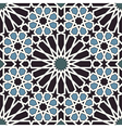 Arabesque seamless pattern in blue and black vector image vector image