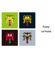 assembly of flat icons on theme funny animals dog vector image vector image